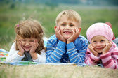 Funny children outdoors — Stock Photo