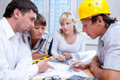 Meeting the team of engineers — Stock Photo
