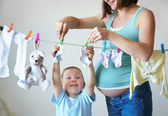 Mother's little helper — Stock Photo