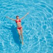 Relaxation in pool - Stock Photo