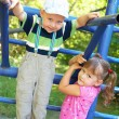 Children on the playground — Stock Photo
