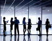 Sagome di uomini d'affari — Foto Stock
