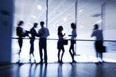 Siluetas de empresarios — Foto de Stock