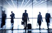 Silhouettes of businesspeople — Foto Stock