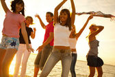 Partij op strand — Stockfoto