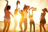 Party am strand — Stockfoto