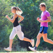 Couple running - Foto Stock