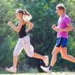Couple running - Stock Photo