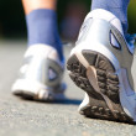 Постер, плакат: Running shoes on runner