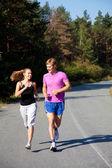 Couple running — Stock Photo