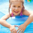 Happy Child Swimming — Stock Photo