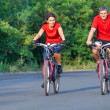 Mature couple on bicycle — Stock Photo #23624391