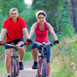 Cycling together - Stock Photo