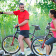 Mature couple on  bicycle — Stock Photo #23624433
