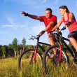 Stock Photo: Cycling