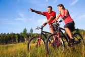 Bisiklete binme — Stok fotoğraf
