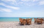 Cafe on the beach — Stock Photo