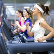 Running in gym — Stock Photo