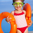 Little girl goes to pool — Stock Photo #25009155