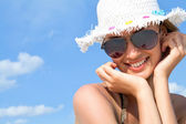 Woman in summer — Stock Photo