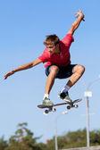 Jump on skateboard — Stock Photo