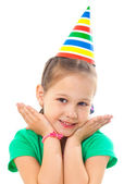 Little girl at party — Stock Photo