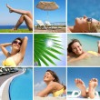 Resort and beach and sea — Stock Photo