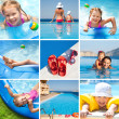 Happy children on resort — Stock Photo