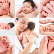 Collage baby — Stock Photo