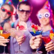 Celebration in night club — Stock Photo