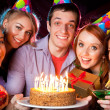 Birthday party at nightclub — Stock Photo