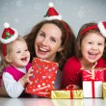 Happy family celebrating Christmas — Stock Photo