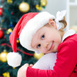 Little Santa girl — Stockfoto