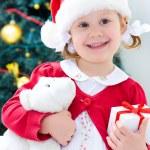 Little Santa girl — Stock Photo #34815815