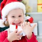 Little Santa girl — Stock Photo #34815835