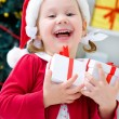 Little Santa girl — Stock Photo