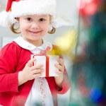 Little Santa girl — Stock Photo #34815851