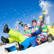 Stock Photo: Fun winter holiday