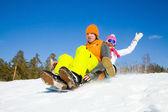 Fun winter holiday — Stock Photo
