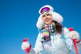 Winter vacation on the ski — Stock Photo