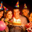 Young company celebrates birthday — Stock Photo
