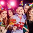 Stock Photo: Birthday party at nightclub
