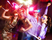 Young party in club — Stock Photo