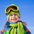 Little boy in winter resort — Stock fotografie