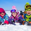 Kids in wintertime — Stock Photo #36076079