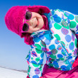 Portrait of cute little girl in winter — Stock Photo #36076107
