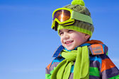 Little boy in winter resort — Stock Photo