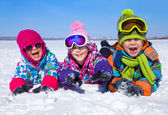 Kids in wintertime — Stock Photo