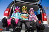 Wintertime children — Stock Photo
