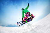 Snowboardind — Stock Photo